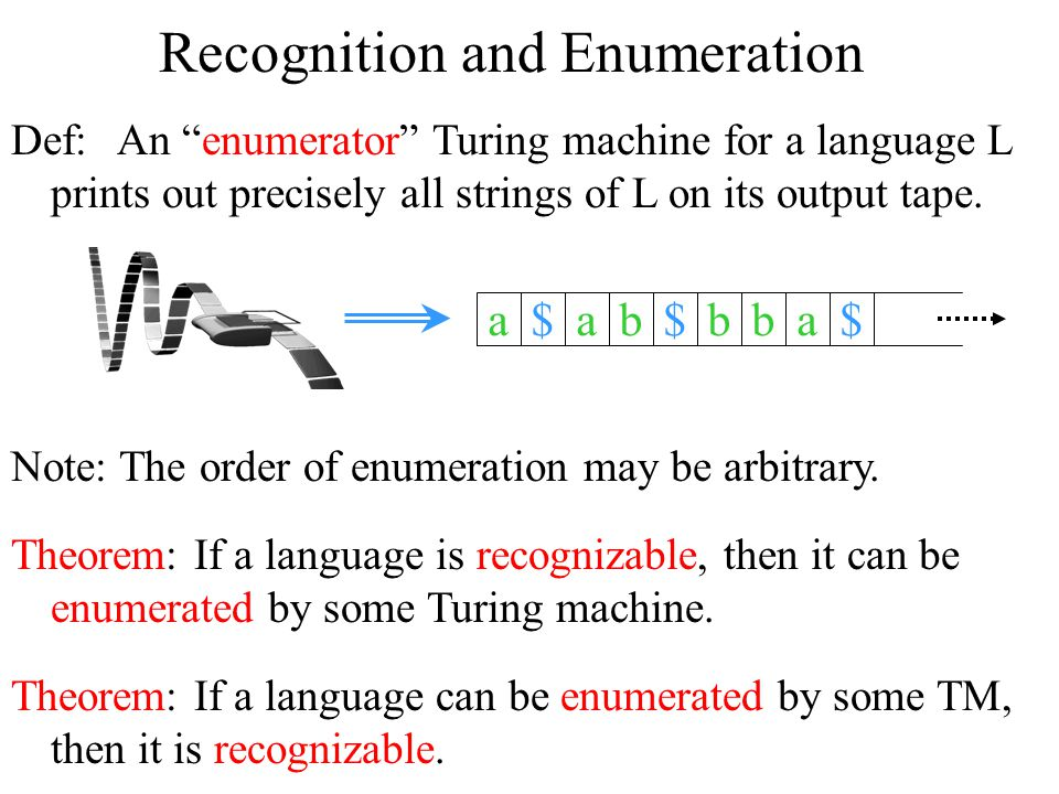 Recognition and Enumeration