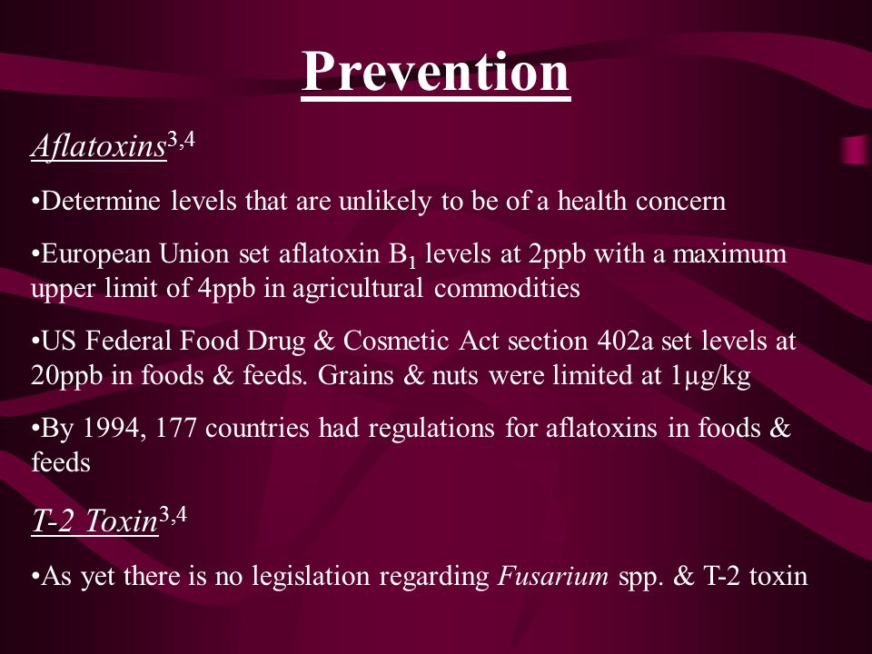 Prevention Aflatoxins3,4 T-2 Toxin3,4