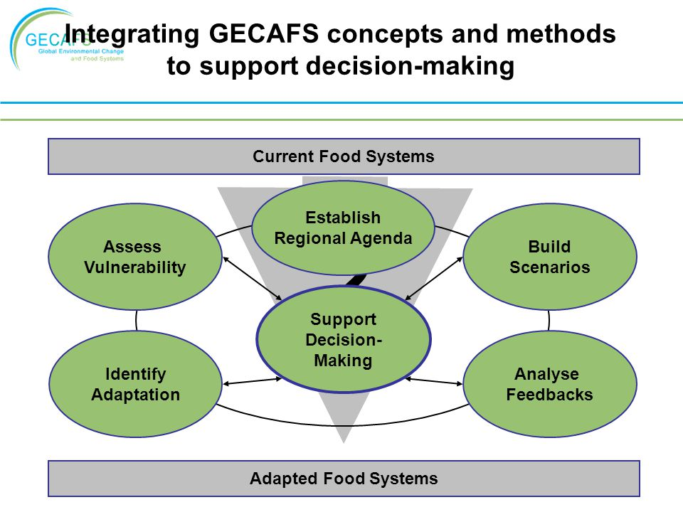 Integrating GECAFS concepts and methods to support decision-making