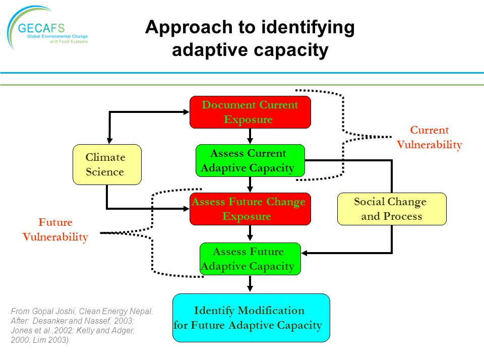 Approach to identifying adaptive capacity