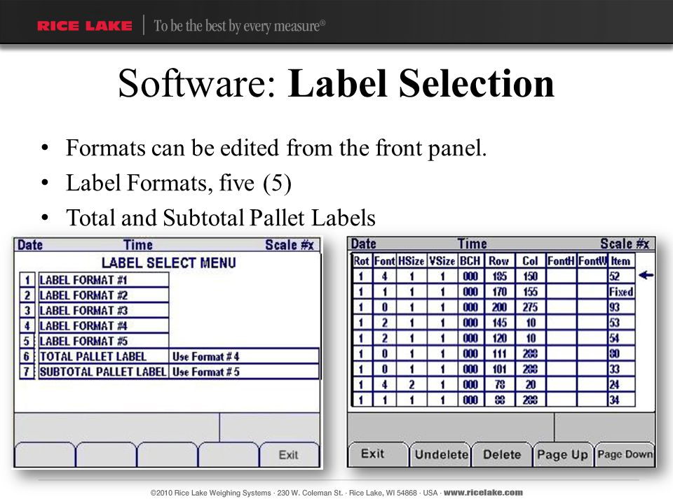 Software: Label Selection