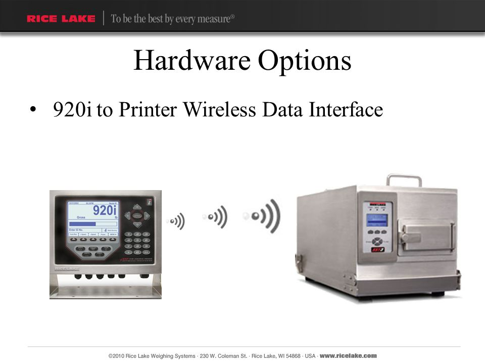 Hardware Options 920i to Printer Wireless Data Interface