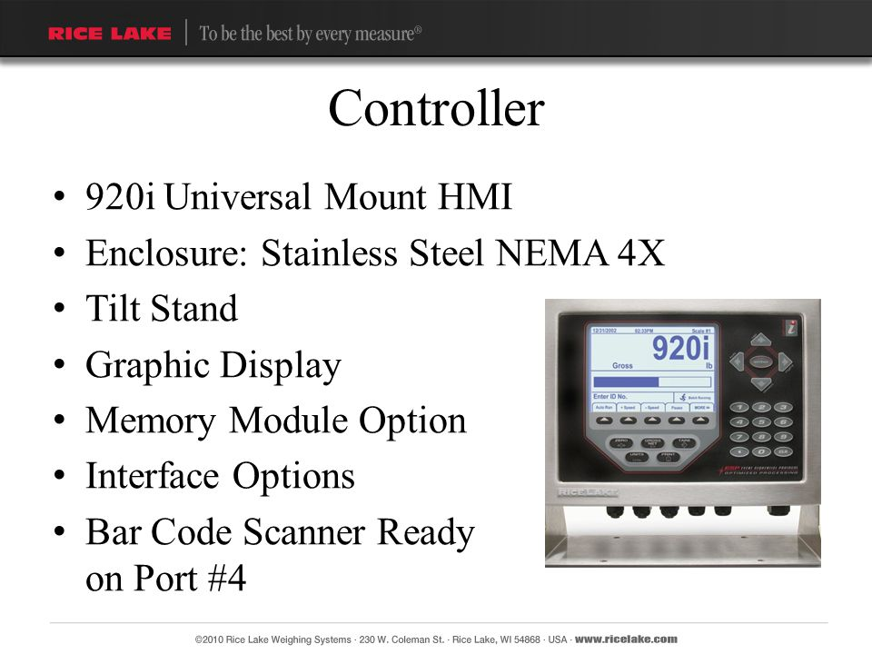 Controller 920i Universal Mount HMI Enclosure: Stainless Steel NEMA 4X