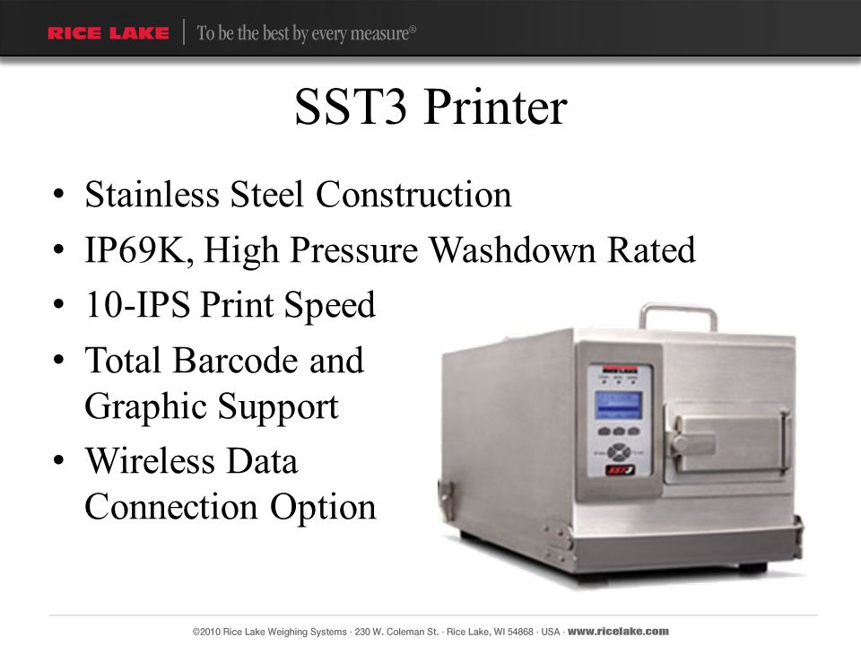 SST3 Printer Stainless Steel Construction