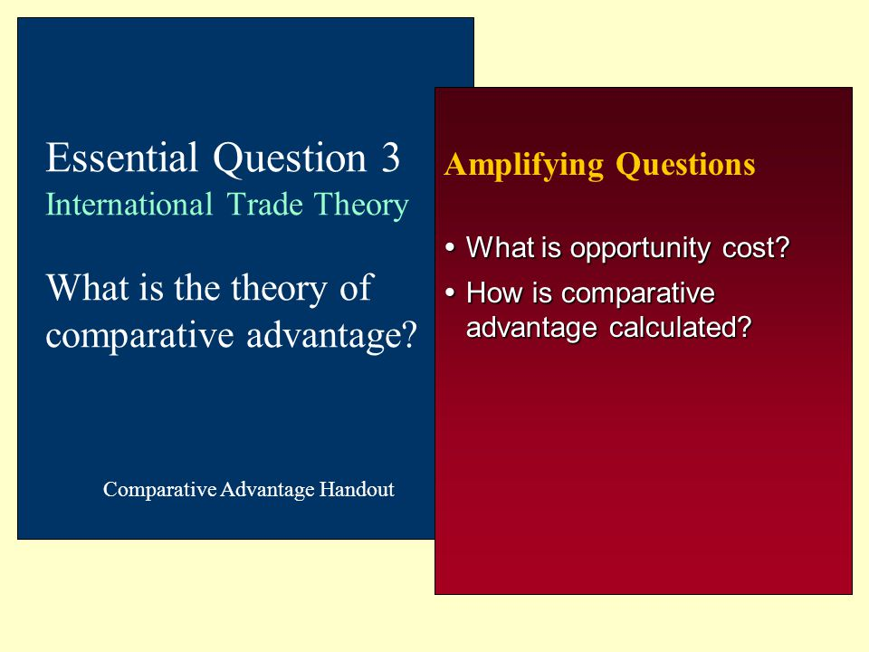 What is opportunity cost How is comparative advantage calculated