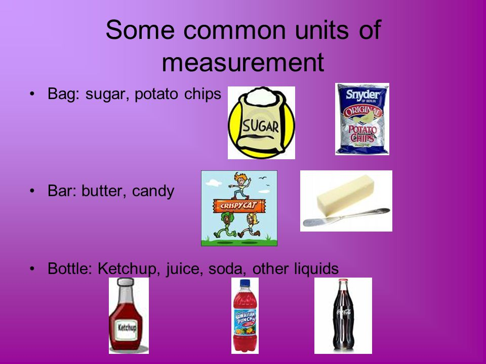 Some common units of measurement