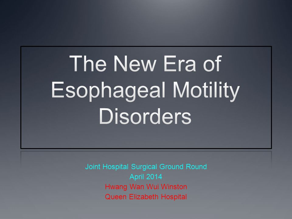 The New Era of Esophageal Motility Disorders