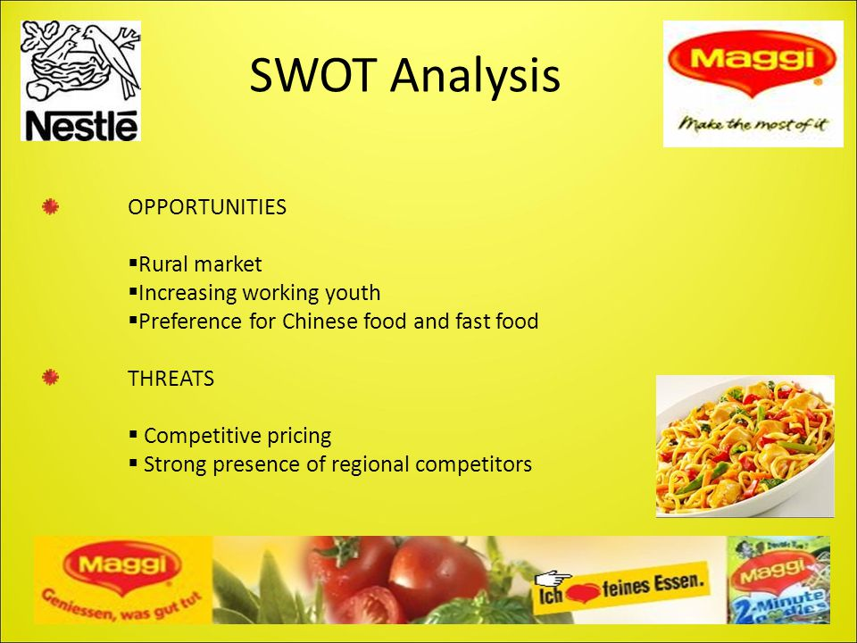 SWOT Analysis OPPORTUNITIES Rural market Increasing working youth