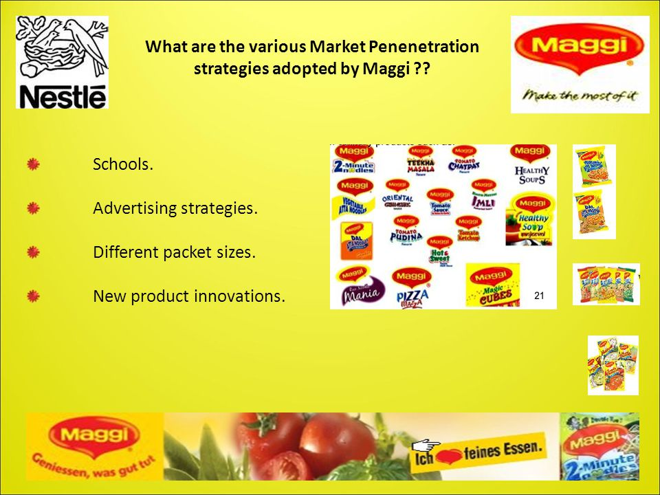 What are the various Market Penenetration