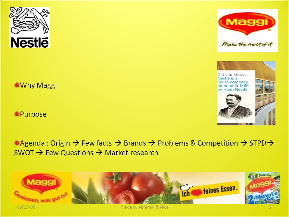 Maggi merged with Nestlé in 1947.