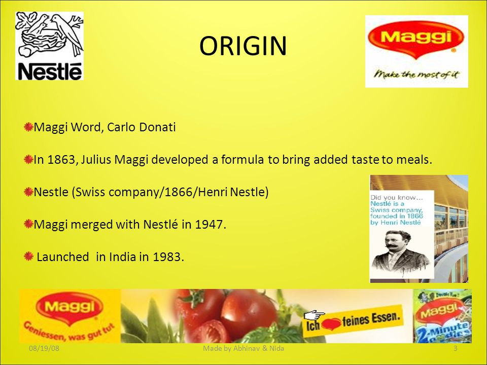 ORIGIN Maggi Word, Carlo Donati