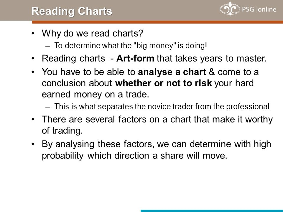 Reading Charts Why do we read charts