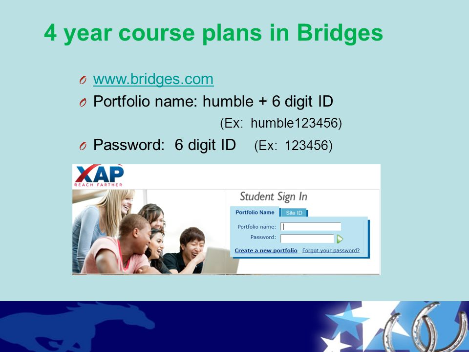 4 year course plans in Bridges