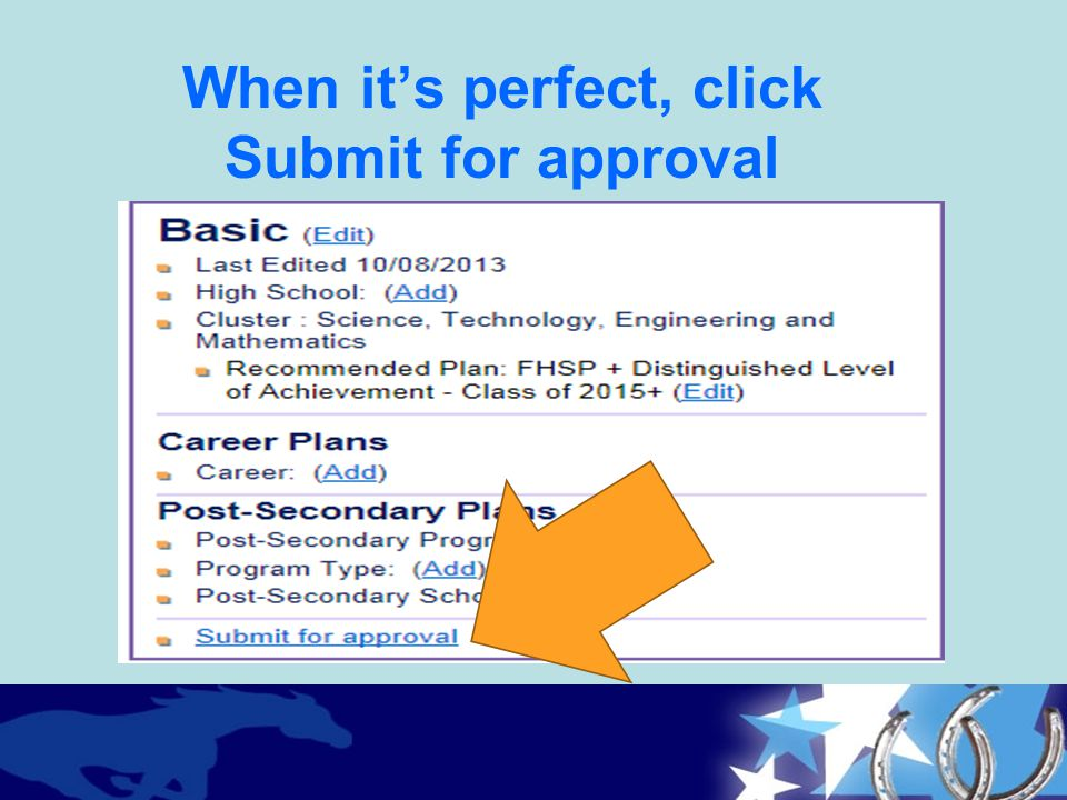 When it's perfect, click Submit for approval