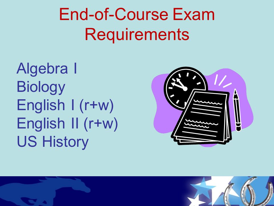 End-of-Course Exam Requirements