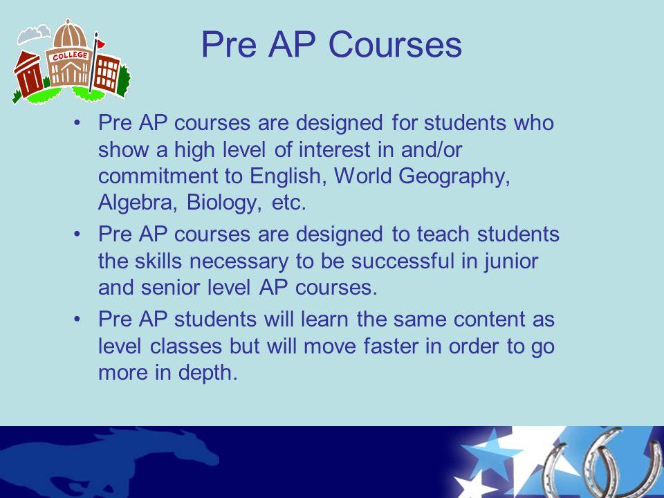 Pre AP Courses