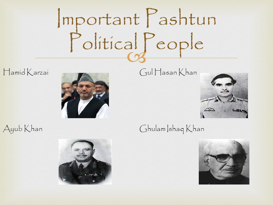 Important Pashtun Political People