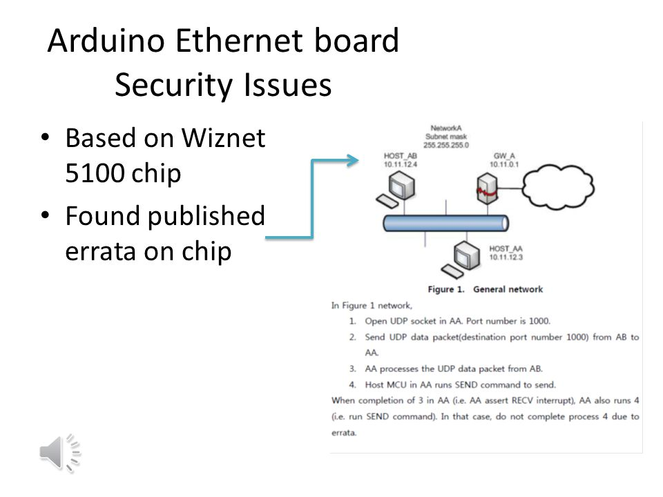 Arduino Ethernet board Security Issues