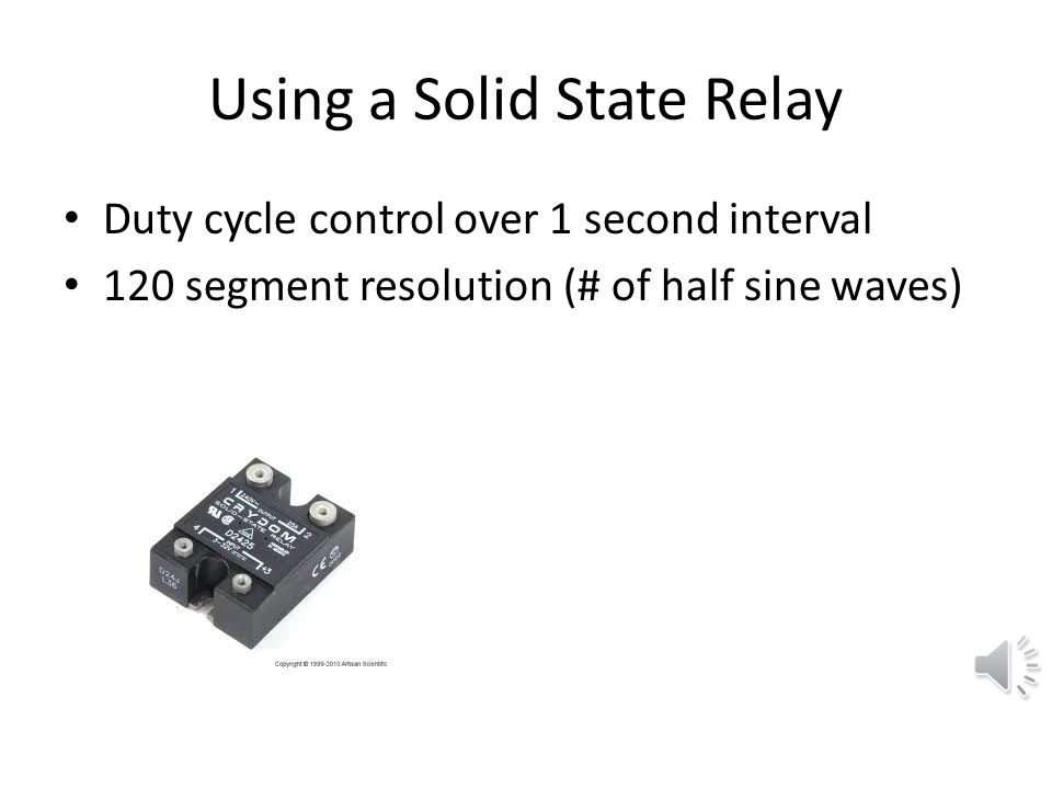 Using a Solid State Relay