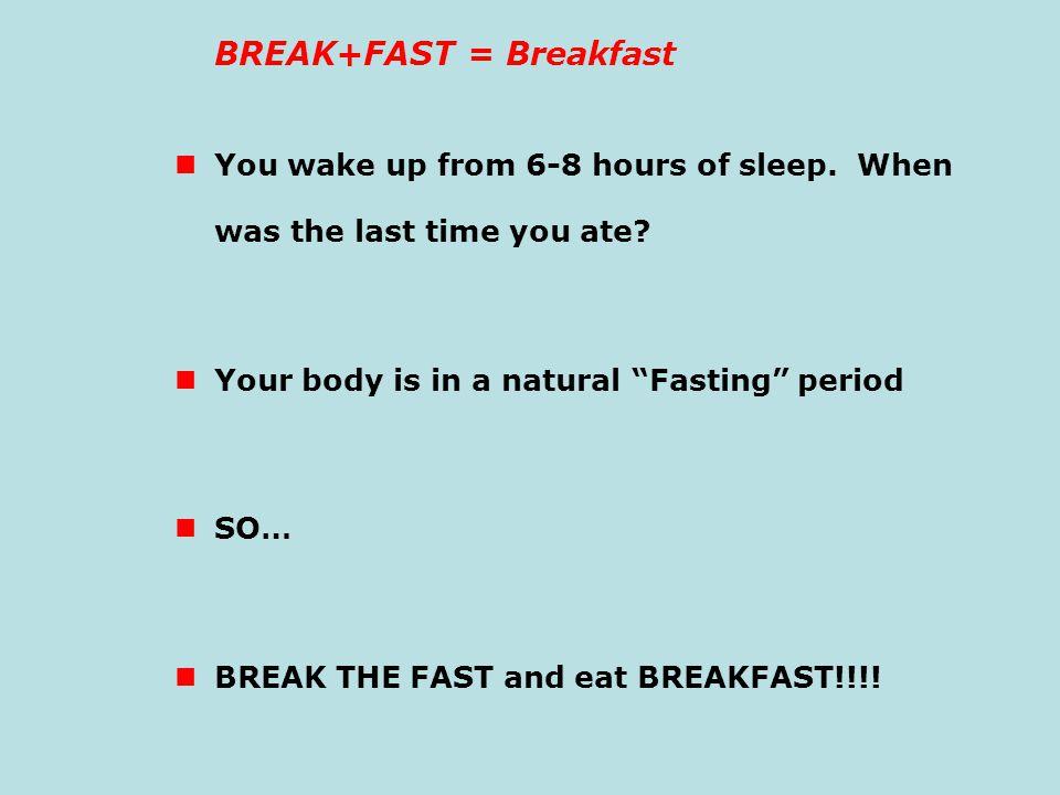 BREAK+FAST = Breakfast