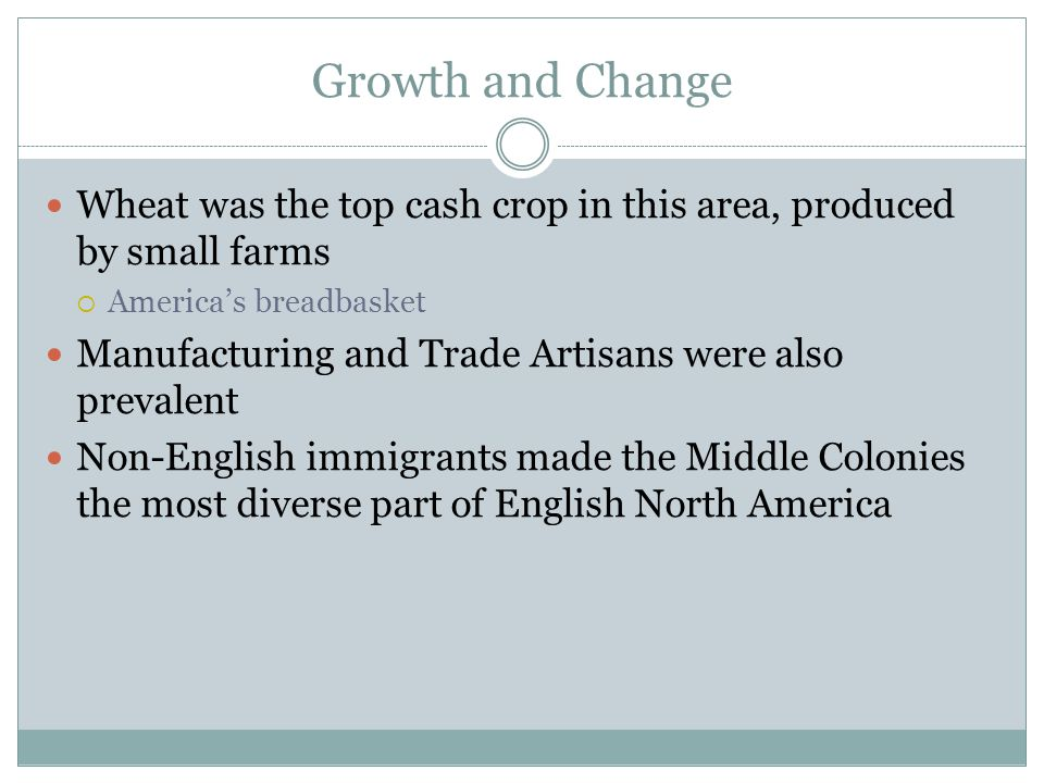 Growth and Change Wheat was the top cash crop in this area, produced by small farms. America's breadbasket.