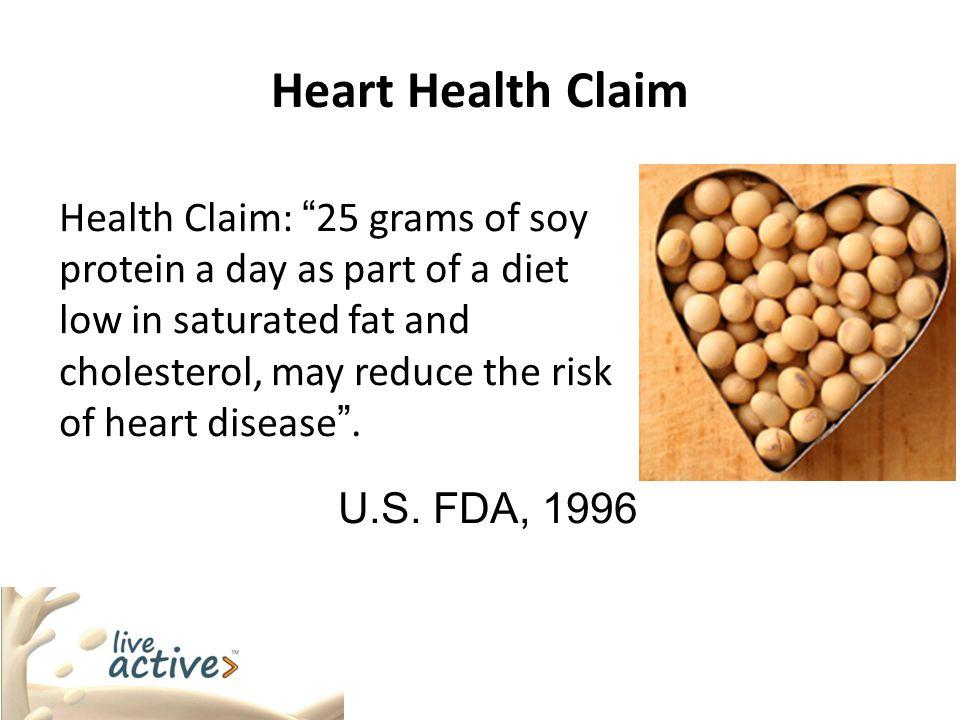 U.S. FDA, 1996 Heart Health Claim