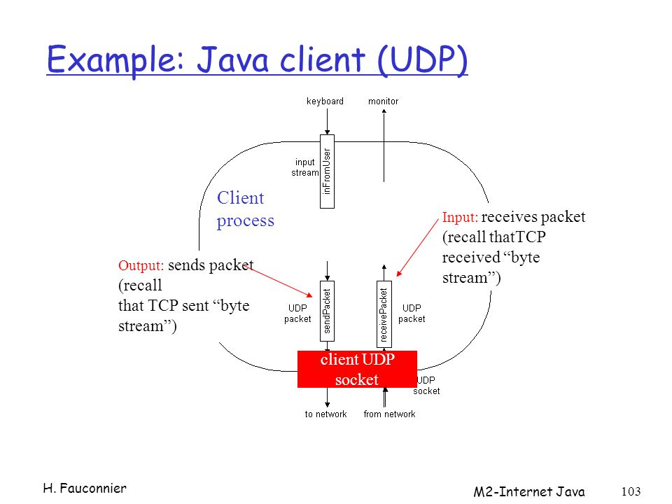 Example: Java client (UDP)