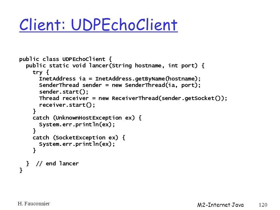 Client: UDPEchoClient