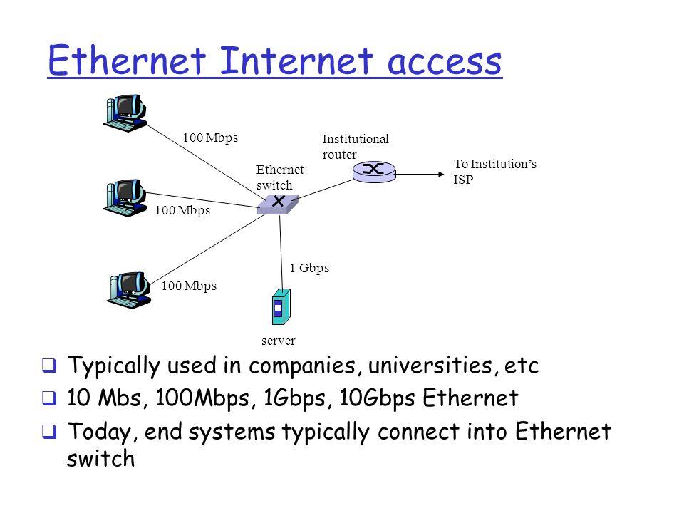 Ethernet Internet access