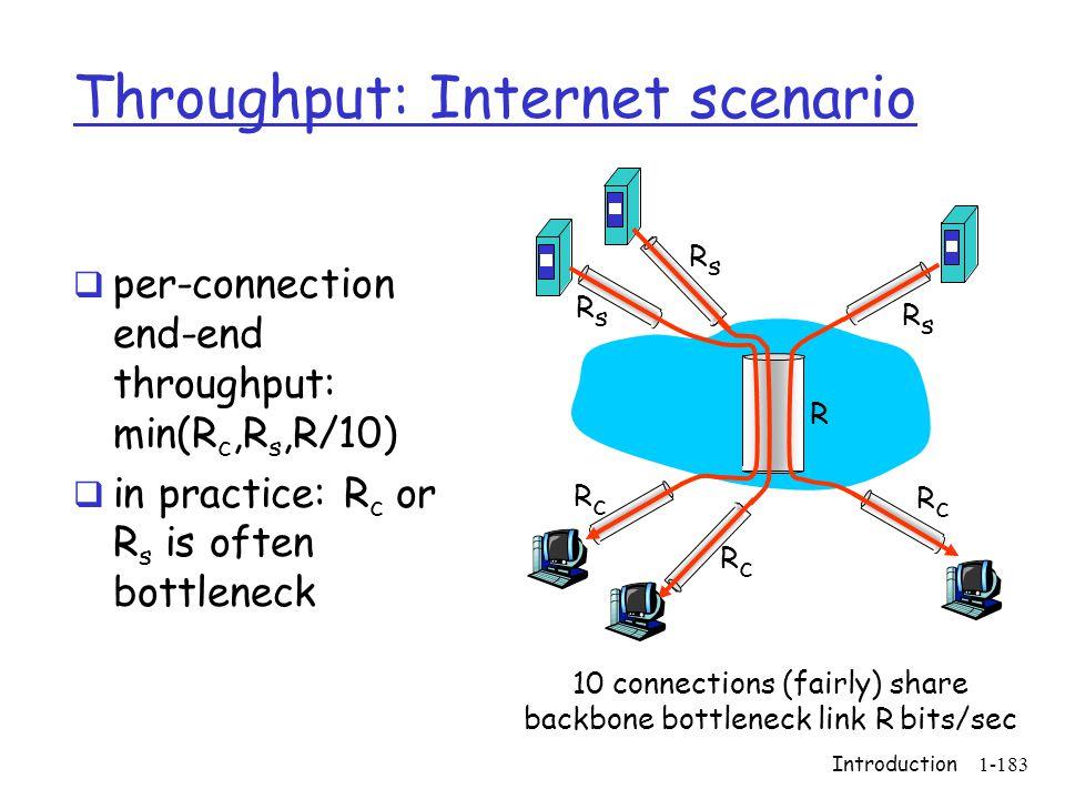 Throughput: Internet scenario