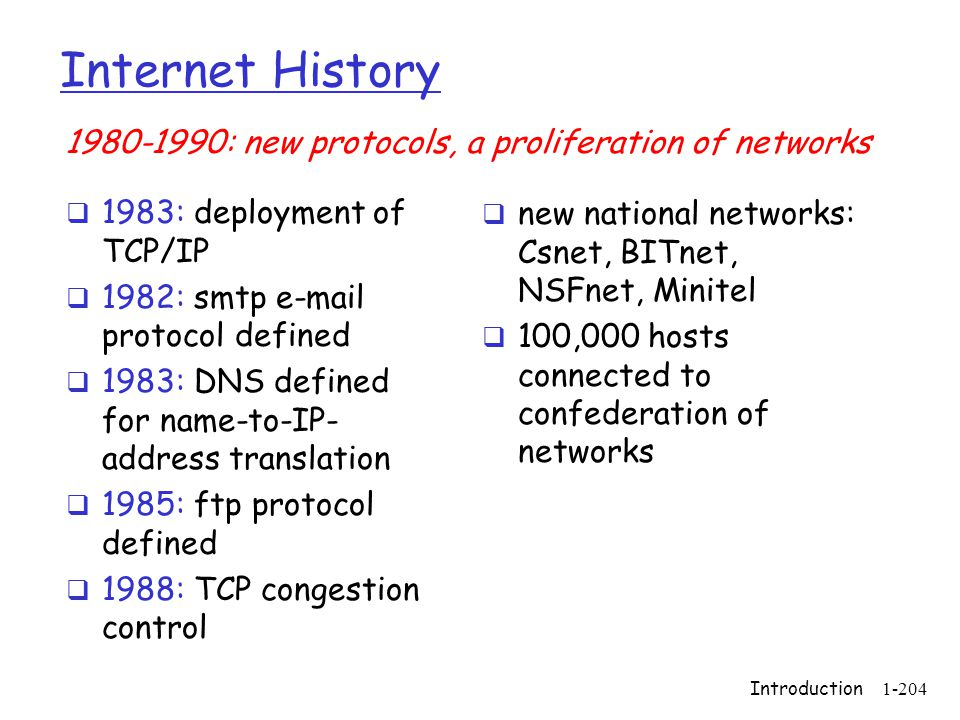 Internet History 1980-1990: new protocols, a proliferation of networks