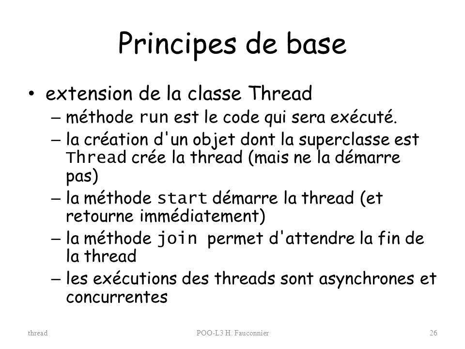 Principes de base extension de la classe Thread