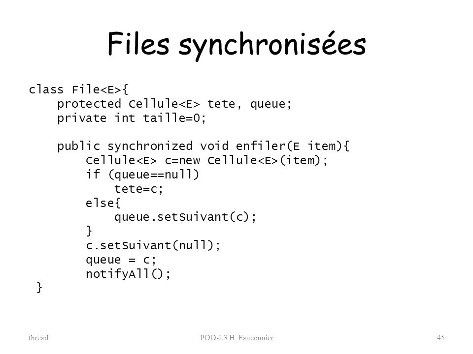 Files synchronisées