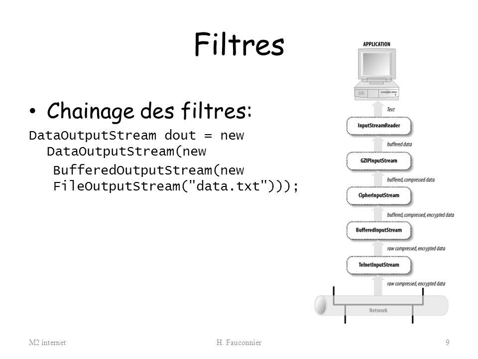 Filtres Chainage des filtres: