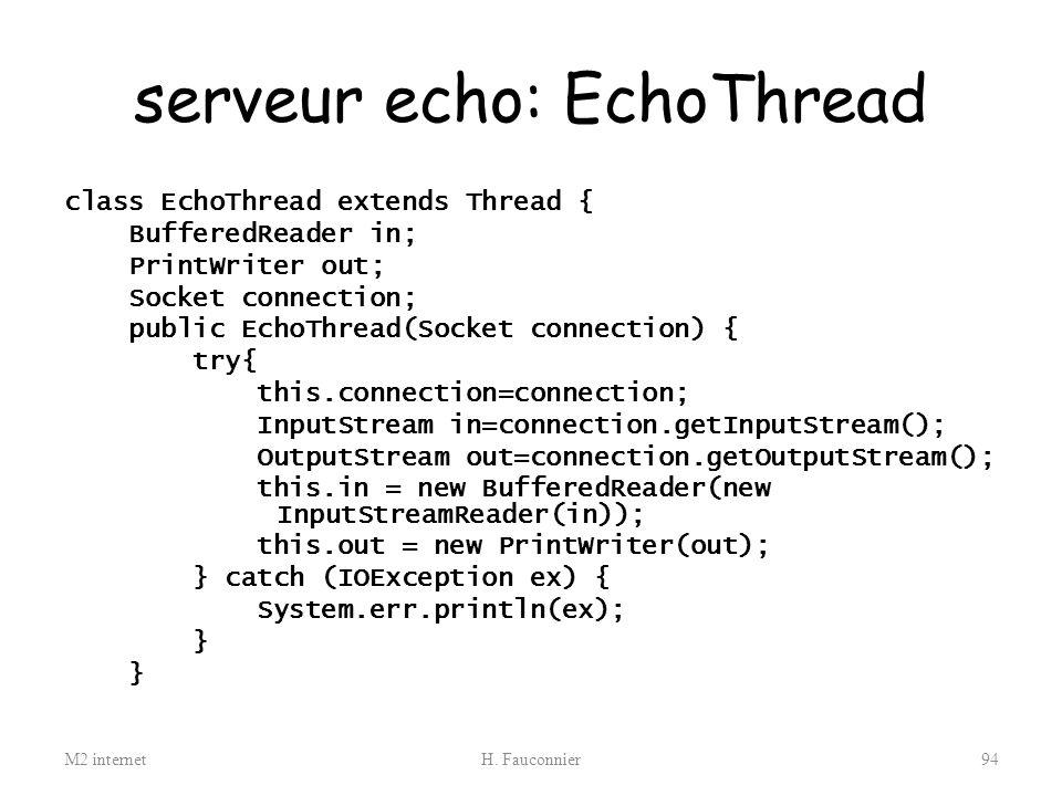 serveur echo: EchoThread