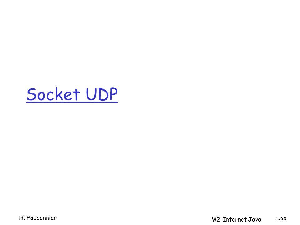 Socket UDP H. Fauconnier M2-Internet Java