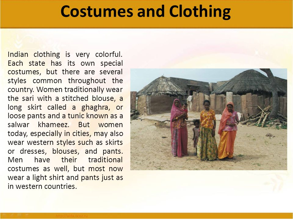 Costumes and Clothing