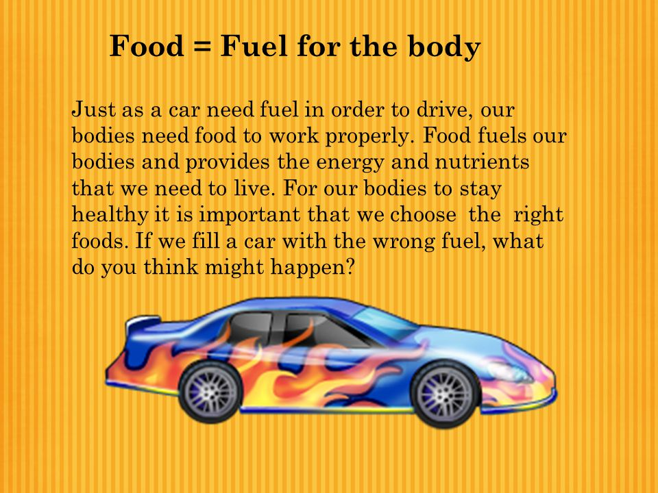 Food = Fuel for the body