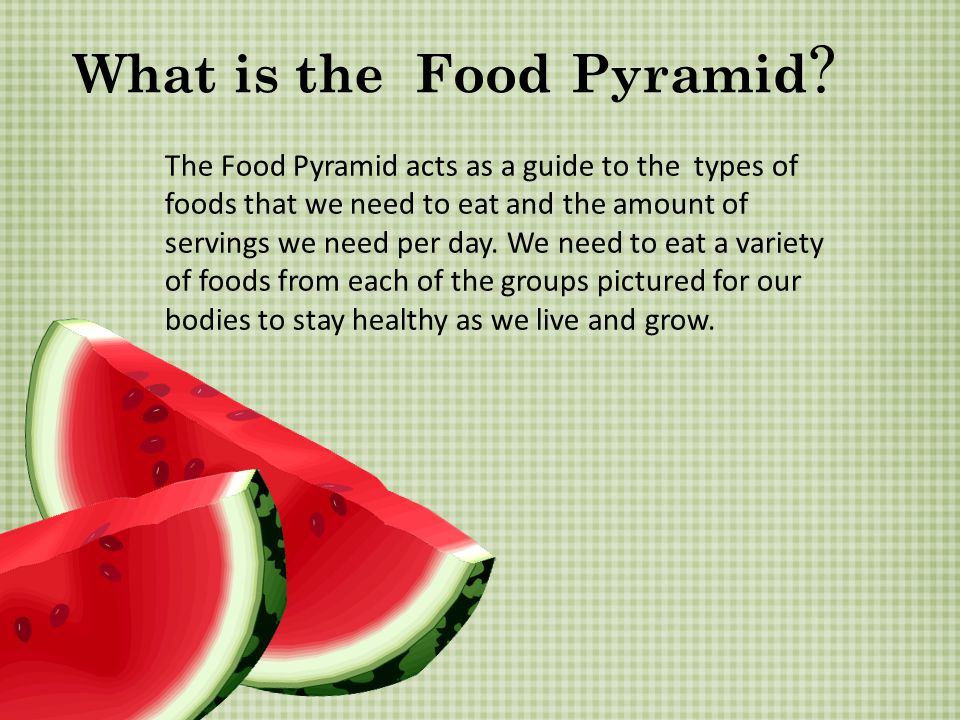 What is the Food Pyramid