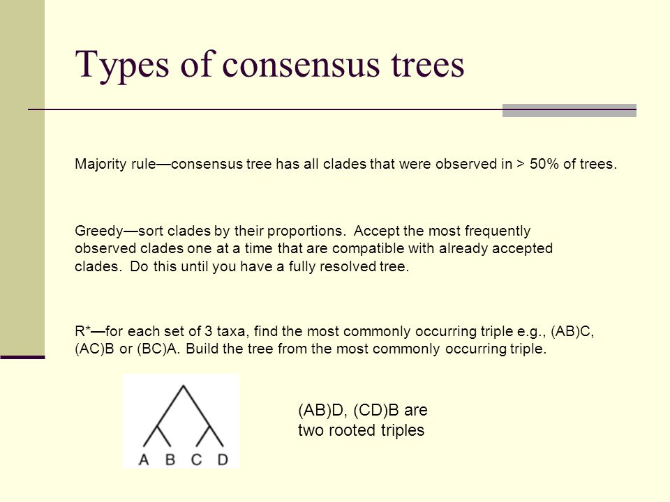 Types of consensus trees
