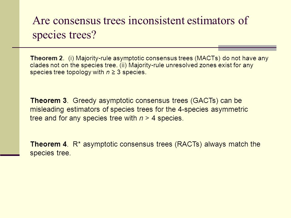 Are consensus trees inconsistent estimators of species trees