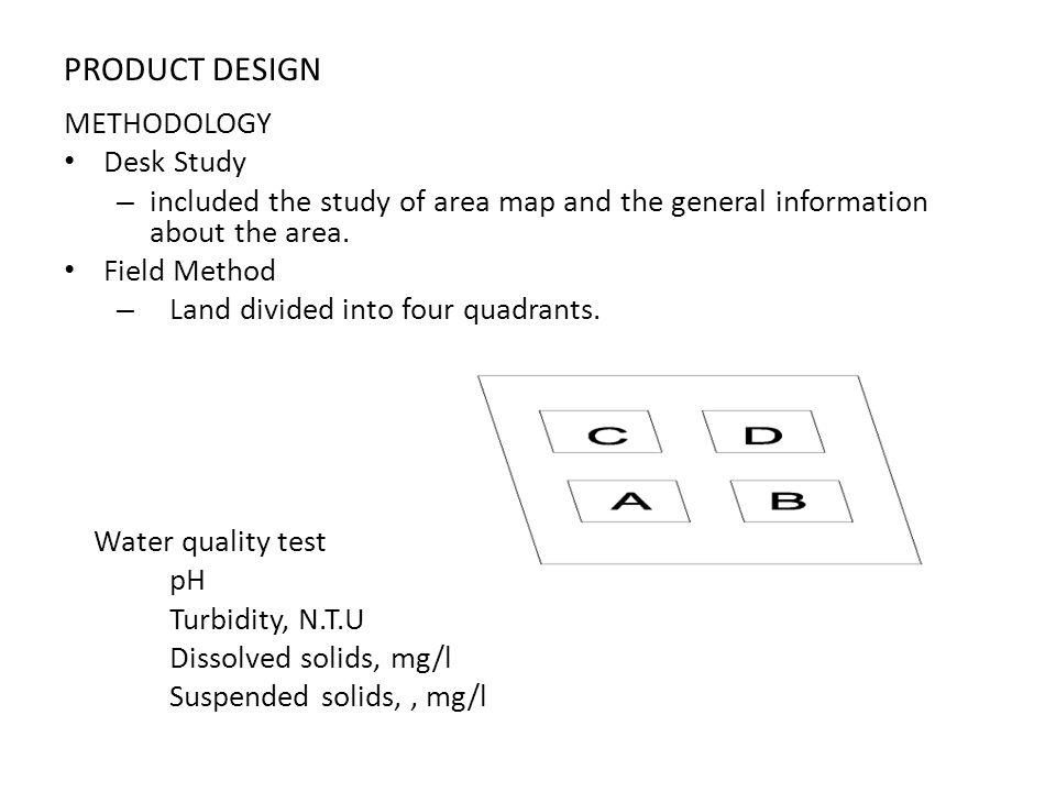 PRODUCT DESIGN METHODOLOGY Desk Study