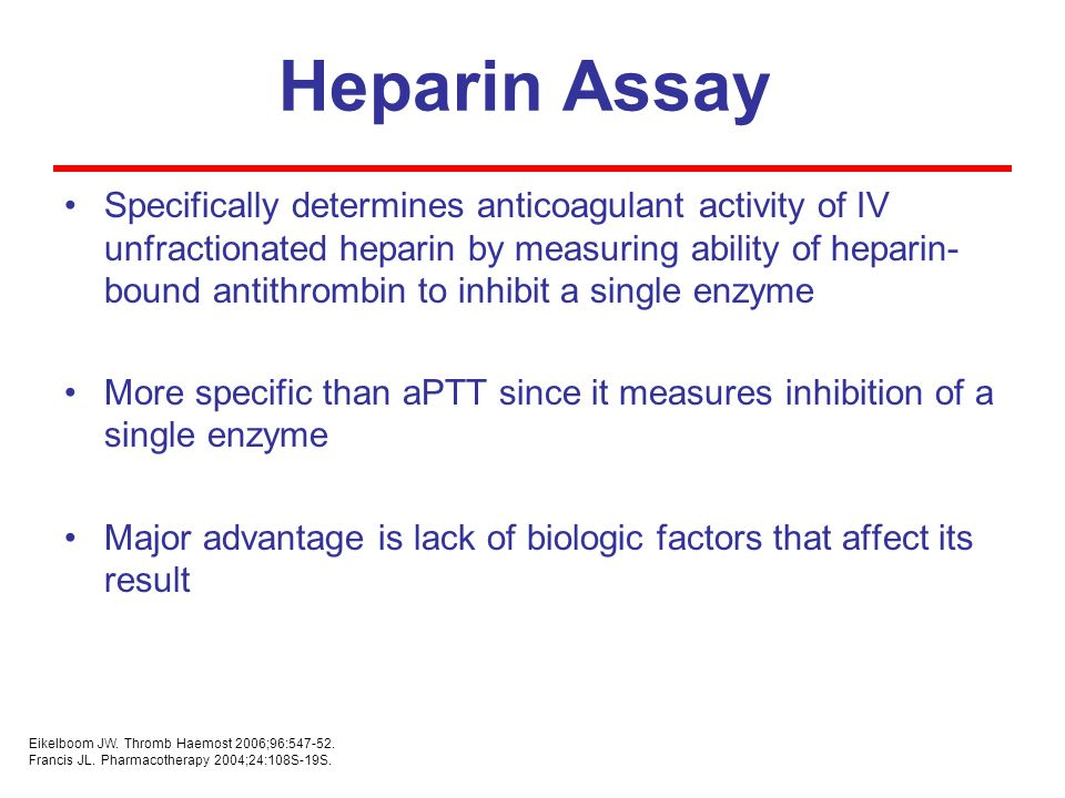 Heparin Assay