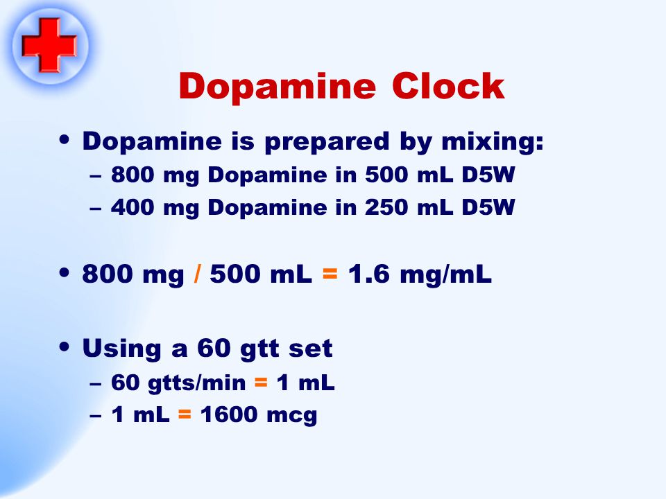 Dopamine Clock Dopamine is prepared by mixing:
