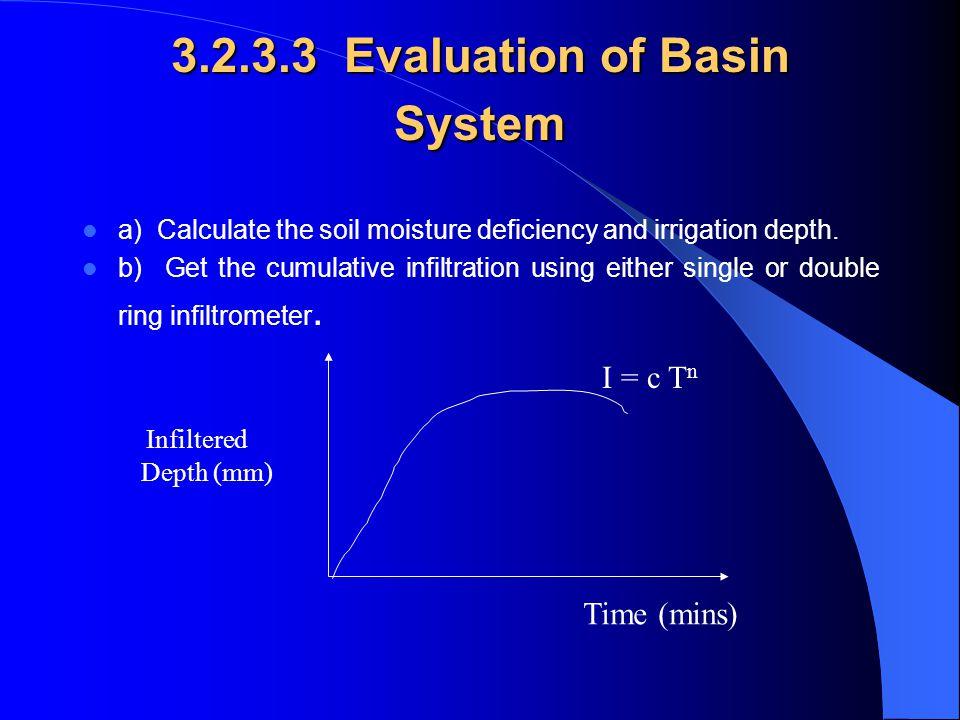 3.2.3.3 Evaluation of Basin System