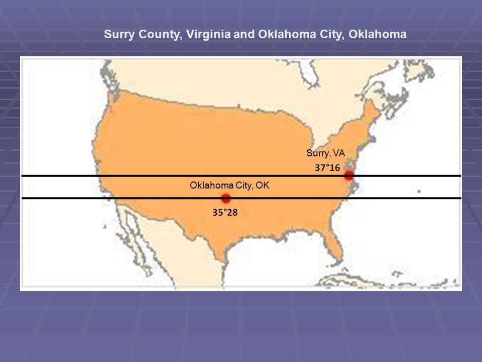 Surry County, Virginia and Oklahoma City, Oklahoma