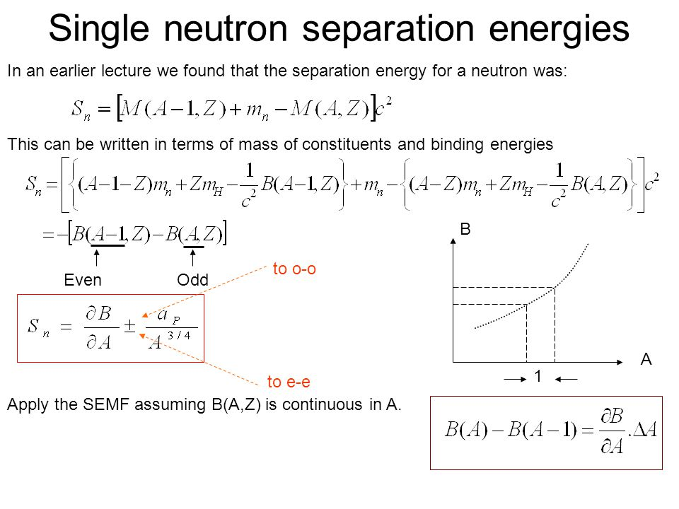 Single neutron separation energies