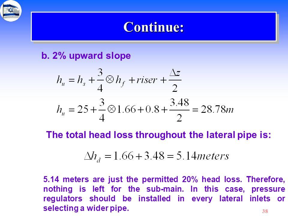 Continue: b. 2% upward slope