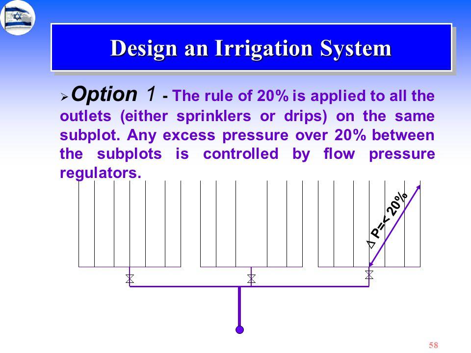 Design an Irrigation System
