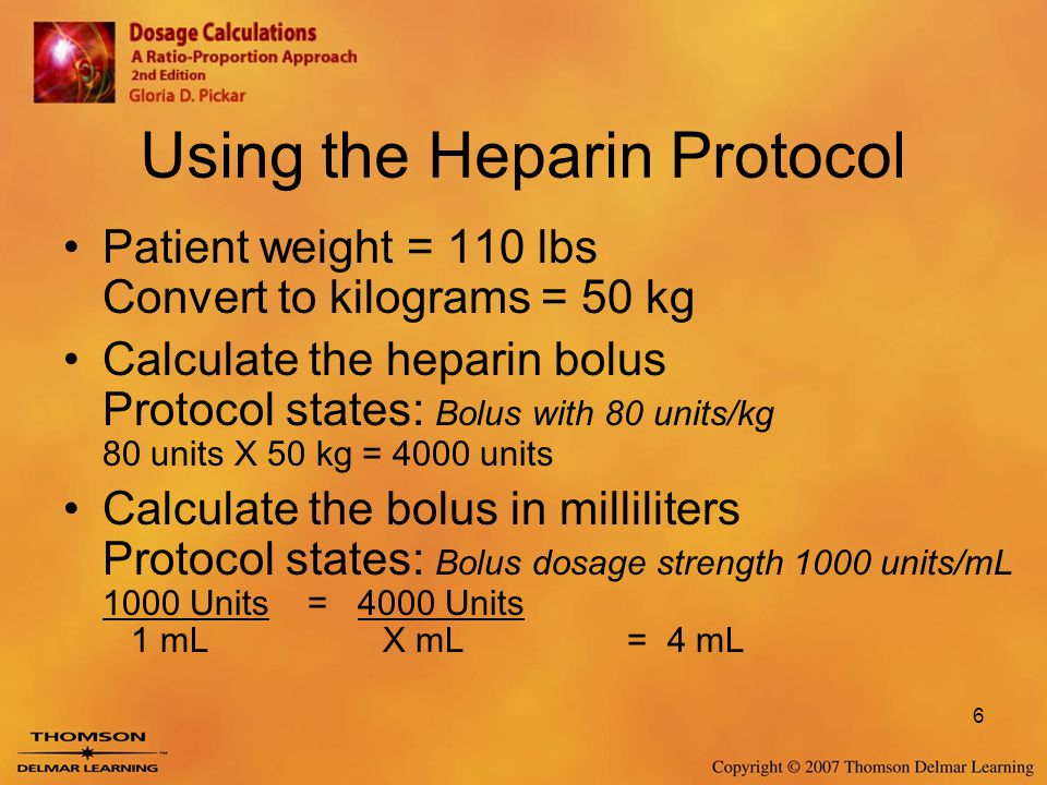 Using the Heparin Protocol